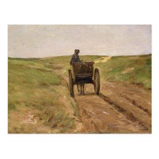 Carro en Katwijk, 1889 Postal