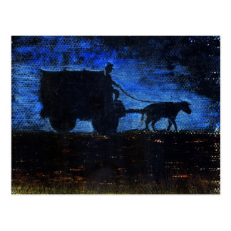 Carro en la oscuridad postal