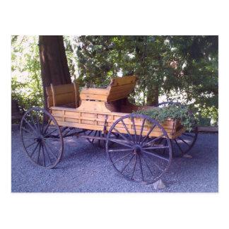Carro escénico del carro postales
