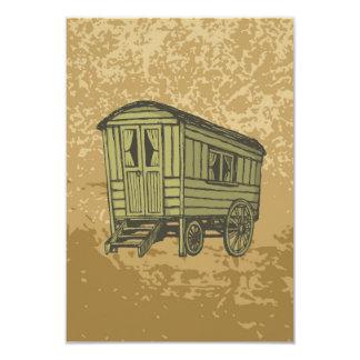 Carro gitano de la caravana invitación 8,9 x 12,7 cm