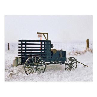 Carro-Postal de la leche de Amish Postal