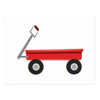 Carro rojo postal