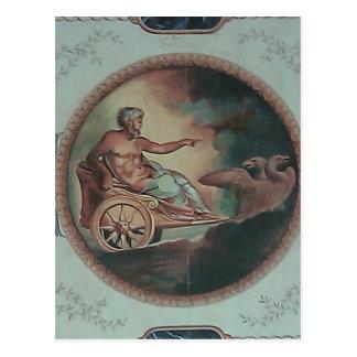 Carro romano postal