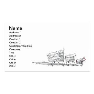 Carros de la compra de la familia plantillas de tarjetas personales