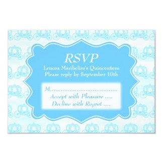 Carros en colores pastel azules Quinceanera Invitación 8,9 X 12,7 Cm