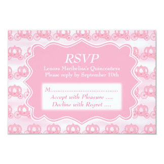 Carros en colores pastel rosados Quinceanera Invitación 8,9 X 12,7 Cm