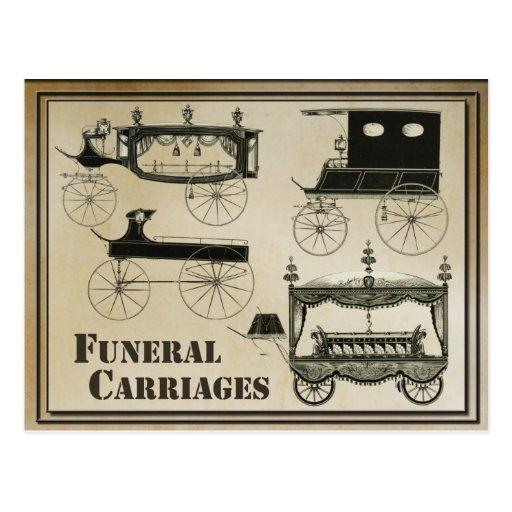 Carros fúnebres antiguos postales