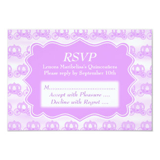 Carros púrpuras en colores pastel Quinceanera Invitación Personalizada
