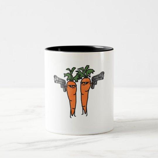 Carrot Fiction Taza De Café De Dos Colores