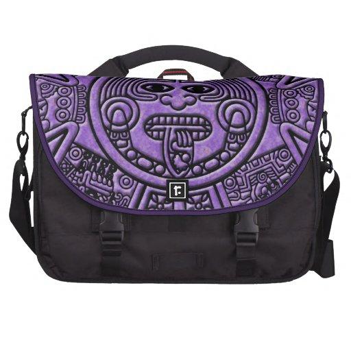 Carta antigua maya púrpura de la astronomía bolsa para ordenador