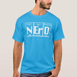 Carta atómica de los elementos divertidos del camiseta