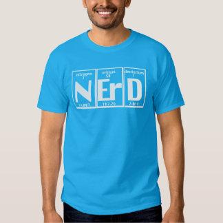 Carta atómica de los elementos divertidos del camisetas