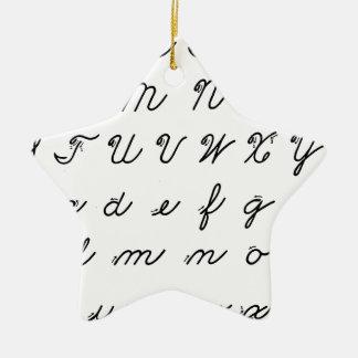 carta cursiva de la escritura adorno navideño de cerámica en forma de estrella