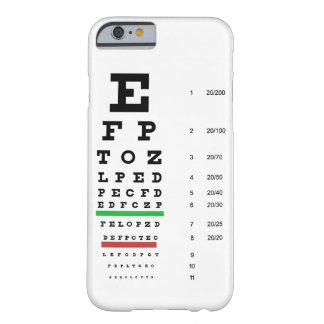 carta de la visión del ojo de Snellen para el Funda De iPhone 6 Barely There