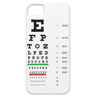 carta de la visión del ojo de Snellen para el iPhone 5 Cárcasa