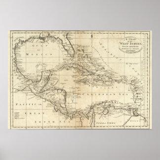 Carta de las Antillas 3 Póster