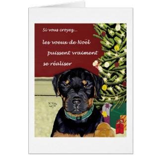Carta de Les Voeux de Noel Tarjeta De Felicitación