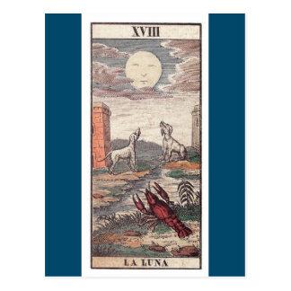 Carta de tarot de Luna del La Postal