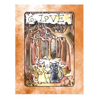 Carta de tarot del amor postal