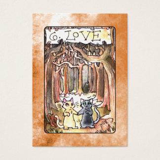 Carta de tarot del amor tarjeta de negocios