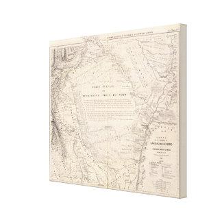 Carta, provincia de Santiago del Estero Impresión En Lienzo