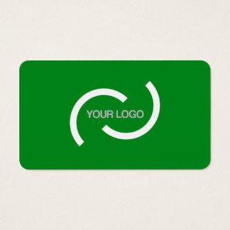 Carta verde elegante. Personalizar con su propia Tarjeta De Visita