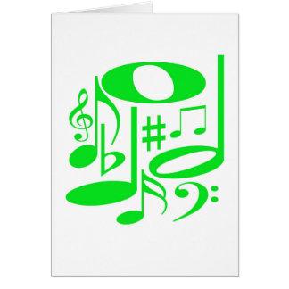 Carta verde musical tarjeta