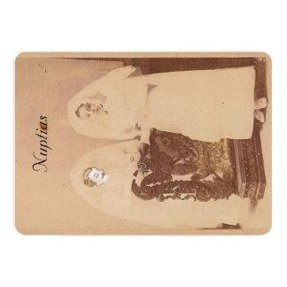 Cartão de casamento invitación 12,7 x 17,8 cm