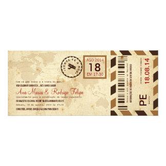 Cartão de Embarque Bilhete Passagem Aérea Anuncios Personalizados