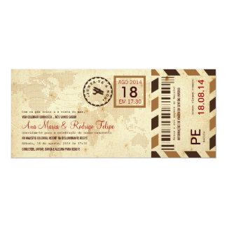 Cartão de Embarque Bilhete Passagem Aérea Invitación 10,1 X 23,5 Cm