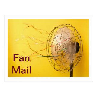 Cartas de admiradores tarjeta postal