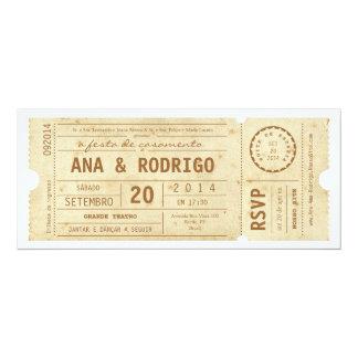 Cartaz convite de casamento hace teatro hace el invitación 10,1 x 23,5 cm