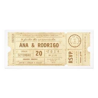 Cartaz convite de casamento hace teatro hace el vi invitacion personalizada