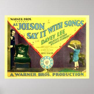 Cartel de película de Al Jolson Póster