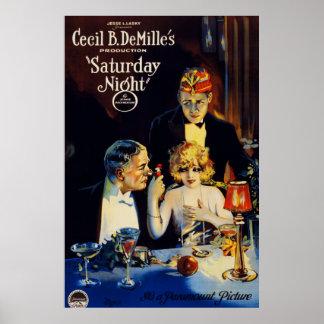 """Cartel de película de Cecil B. DeMille """"el sábado Póster"""