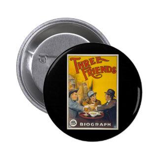 Cartel de película de tres amigos pin