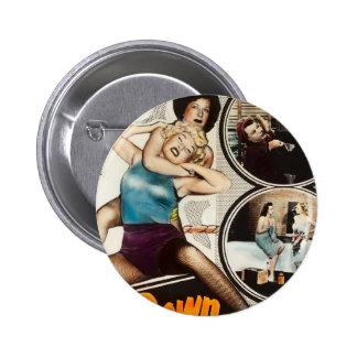 Cartel de película del vintage que lucha el Pin en