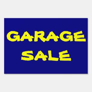 Cartel de venta de garaje