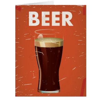Cartel del anuncio publicitario de la cerveza del tarjeta de felicitación grande