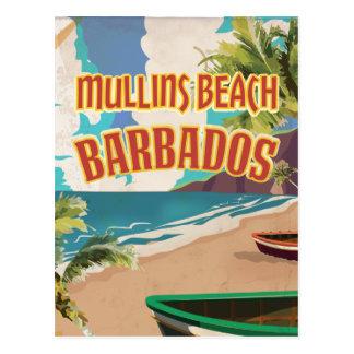 Cartel del viaje de Barbados de la bahía de la Postal