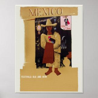 Cartel del viaje de México Póster