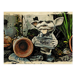 "Cartel ""hola"" postal del Goblin"