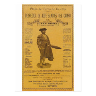 Cártel para la despedida del torero - Sevilla Postal