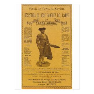 Cártel para la despedida del torero - Sevilla Tarjetas Postales