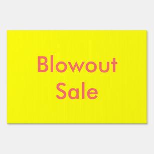 Cartel Rótulo de venta de Blowout