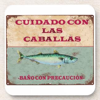 Cartel Vintage Antiguo Cadiz Caballas Posavaso