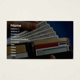 Cartera a disposición tarjeta de visita