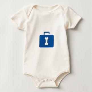 Cartera abierta azul con un ojo de la cerradura body para bebé
