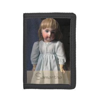 Cartera antigua del nilón de la muñeca de Belton