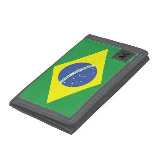 Cartera con la bandera brasileña y su monograma